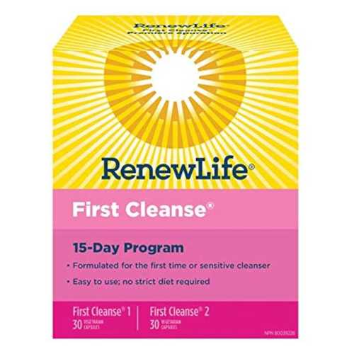 Renew Life First Cleanse Full Body Cleanse 15 Day Program Kit