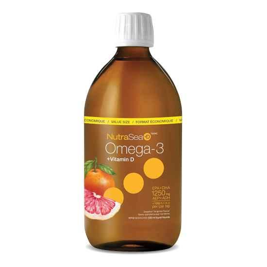 NutraSea Omega 3 + Vitamin D Grapefruit Tangerine 500mL